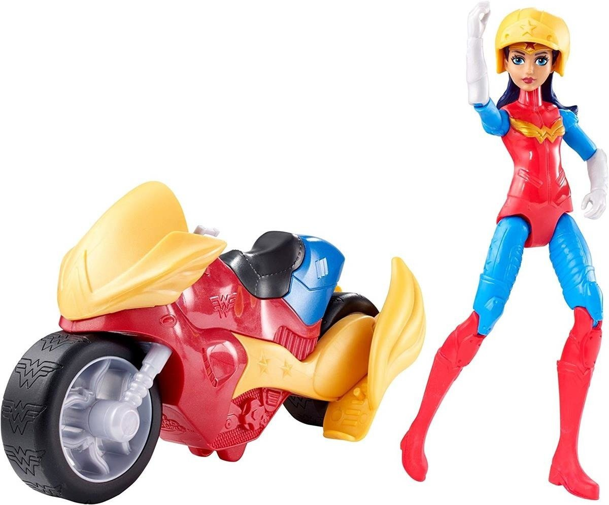 MATTEL DC SUPER Hero Wonder Woman + pojazd